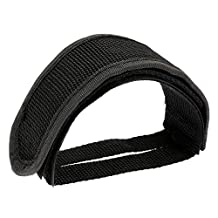 Bike Straps Pedal - SODIAL(R)Soldier Fixed Gear Fixie BMX Bike Bicycle Anti-slip Double Adhesive Straps Pedal Toe Clip Strap Belt black