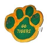 Go Tigers Mascot Yellow Green paw print 8 inch plush stuffed window cling