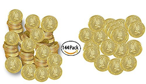 Play Kreative Plastic Gold Coins - Fake Money Party Favors ()