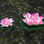 Swovo-Artificial-Floating-Lotus-Floating-Foam-Lotus-Flower-Home-Garden-Pond-Decor-Outdoor-for-Wedding-and-Holiday-4