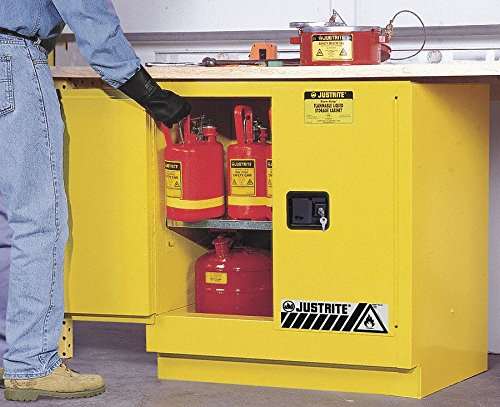 (Justrite 22 gal. Flammable Cabinet, 35
