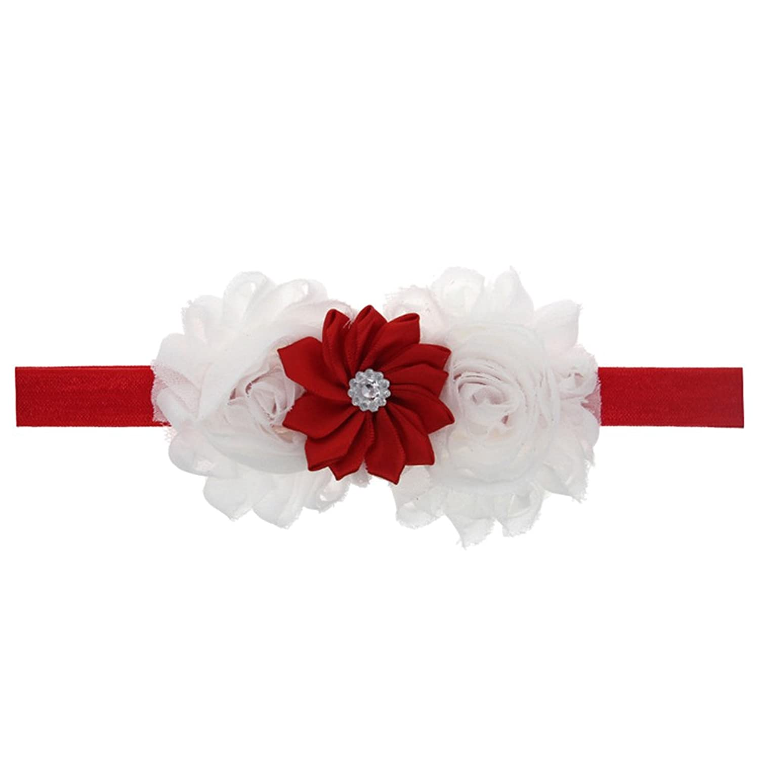 Zhhlaixing Kids Baby Girls Toddler Soft Elastic Flowers Headband Hairband Hair Accessories for Christmas/Photography Pops/Costume/Party 5130