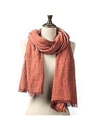 Natural Feelings Elegant Feminine Soft Solid Color Cotton Women Scarf Wrap Winter