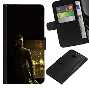 All Phone Most Case / Oferta Especial Cáscara Funda de cuero Monedero Cubierta de proteccion Caso / Wallet Case for HTC One M8 // Deusex Game