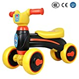 IMSHI Baby Balance Push Bike Bicycle Baby Walker Toys Rides - for 1-3 Years Old Baby - No Foot Pedal Four Wheels Infant First Birthday Gift Bike Indoor Outdoor