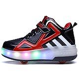 Uforme Kids Boys Girls High-Top Shoes LED Light