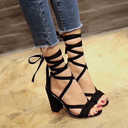 ab6788cacc10c YJYdada Summer Women Ladies Sandals Ankle High Heels Block Party ...
