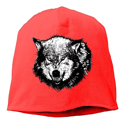 Wolf Dreams Summer Mesh Tie Dye Fashion Skull Cap Unisex Cool Red -