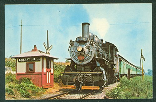 (CHERRY HILL STATION Strasburg PA Steam Passenger Train Railroad Postcard)