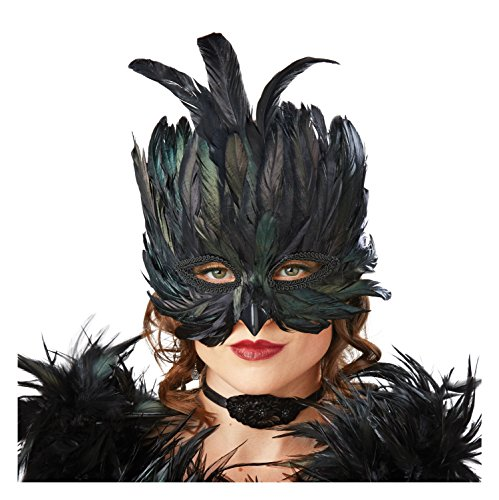Raven Costumes Adults (Seasons Raven Feather Masquerade Mask)