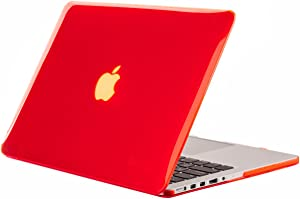 "Kuzy - RED Crystal Hard Case Cover for Apple MacBook Pro 15.4"" with Retina Display Model: A1398 (Older Version) - Red"