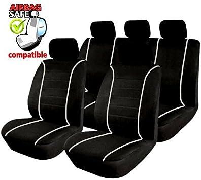 Schwarz Sitzbezüge für AUDI 80 B4 Autositzbezug VORNE