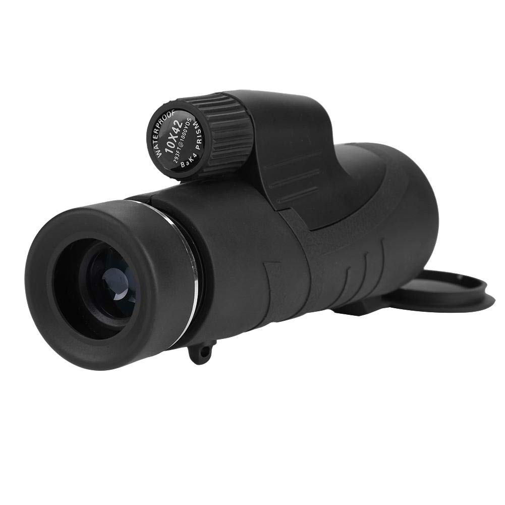 VGEBY Monocular Telescope, Waterproof New Advanced Compact and Lightweight One Hand Focus Telescope for Hunting Bird Watching Camping Outdoor Sporting (Combo 1)