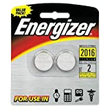 Energizer Watch/Electronic Batteries, 3 Volts, 2016, 2 batteries