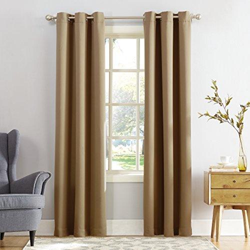 (Sun Zero Easton Blackout Energy Efficient Grommet Curtain Panel, 40