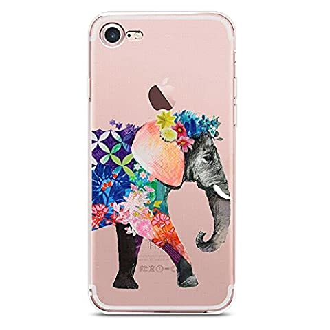 iPhone 7 Plus Case, JICUIKE Lovely Animals Printed Transparent Silicone Phone Shell Clear Soft Slim Thin Durable Protective Shockproof TPU Bumper Back Cover for iPhone 7plus 5.5inch [Color (Iphone 6plus Disney Animal Cases)