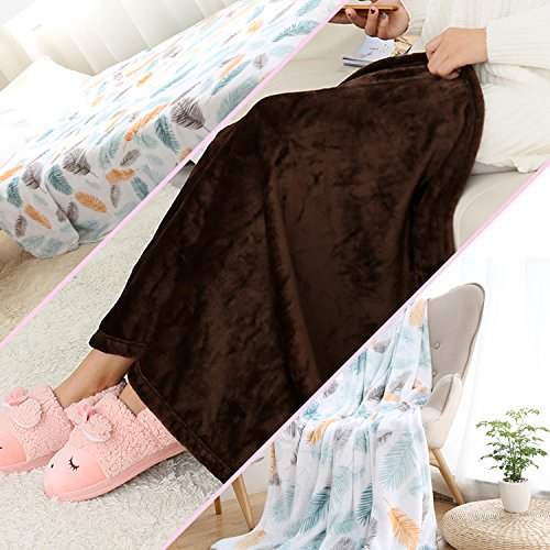 durable modeling Warm Microfiber All Season Blanket and Small Attached Line Ornament Light Pink White and Black Print Artwork Image,Multicolor