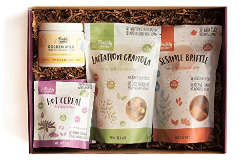 Freshly Moms Gift Box For New Moms - Nourishing Organic Snacks, Cereal & Teas Designed For New Moms