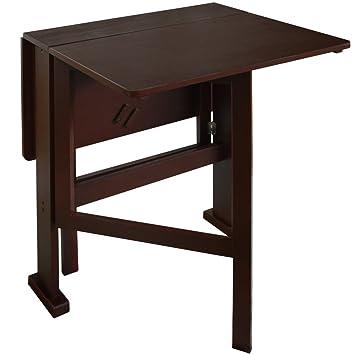 Gateleg Drop Leaf 2 Person Compact Dining Tablecraft Table Dark