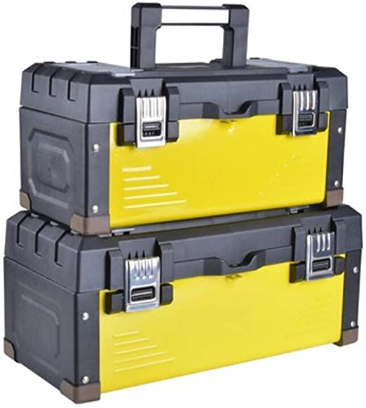 Caja de almacenamiento de herramientas Caja de herramientas portátil de acero inoxidable Hierro hardware de múltiples funciones del hogar Mantenimiento del electricista caja de herramienta de almacena: Amazon.es: Hogar