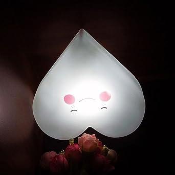 Charmant 🍎VENMO Herzförmiges Soft Vinyl LED Nachtlicht Spielzeug Für Baby Kinder Schlafzimmer  Dekoration Deckenleuchte LED Lampe