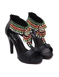 Tianrui Crown Women and Ladies Beading Embroidery Platform Summer Summer Summer High Heel Sandal Shoe B01NALTK2Z Parent 598cdb
