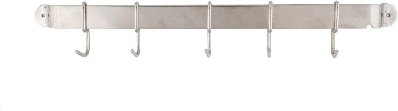 1 Pack 15-inch Pot Rack Hanging Storage Organizer with 5 S Hooks DecorRack Wall Mounted Kitchen Utensil Holder