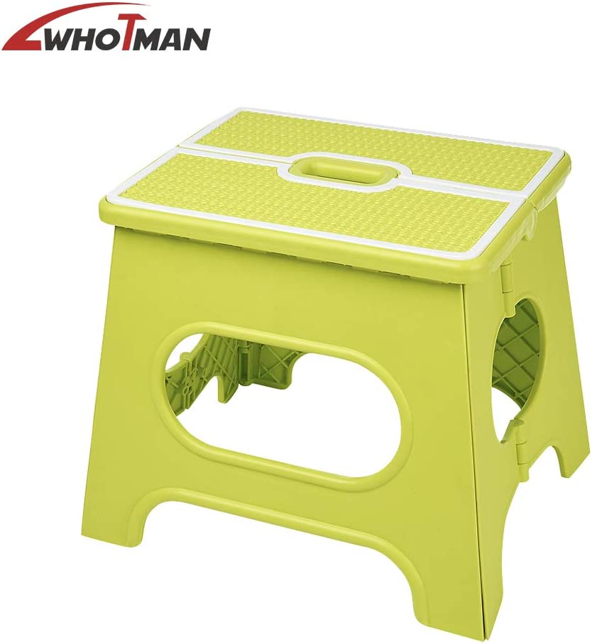 Easy to Store Garden Step Stool. Folding Step Stool Foldable Kitchen Step Stool Ideal for Kitchen Bathroom Wothman Portable Step Stool Plastic Non-Slip Foot Stool for Kids and Adults