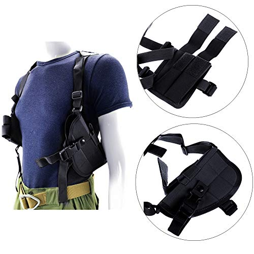 FIRECLUB Tactical Police Security Universal Left Right Hand Shoulder Holster for Glock 17, 20, 21, 22, 31,37, (Black)