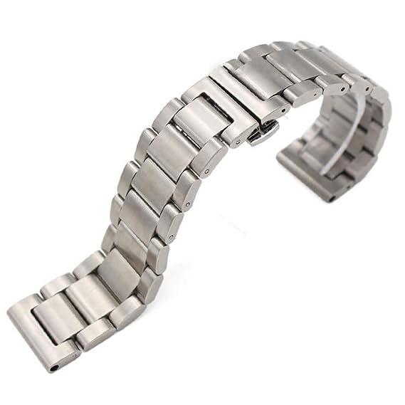 Reloj de Metal Pulseras Hombres Acero Inoxidable 18mm 20mm ...