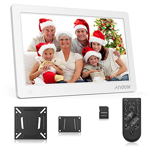 Andoer 15.6Inch Digital Photo Frame, Digital Picture Frame FHD IPS Display Support Calendar/Clock/MP3/Photos/1080P Video Player with 8GB Memory Card and Remote Control
