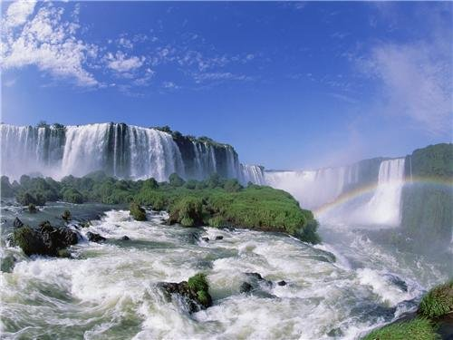 - IGUAZU FALLS GLOSSY POSTER PICTURE PHOTO argentina brazil waterfall cool