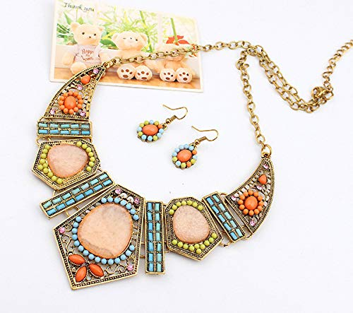 Clearance! Paymenow Women Girls Retro Bohemia Necklace Flower Geometric Hollow Out Summer Beach Dress Pendant Necklace Jewelry Gift (Multi) by Clearance! Paymenow (Image #3)