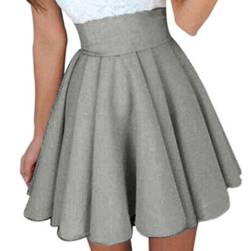 cheap for discount 1c187 86f54 SUCES Damen Rock Knielang A-Linie Retro Vintage Sommer High Waist Tutu  Basic Faltenrock Plissee Rock Casual Minikleider Röcke Knielang Hohe Taille  ...