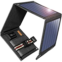 Suaoki 14W Solar Charger Portable Foldable with High Efficiency SunPower Solar Panels for Smartphones and Other 5V USB Devices