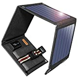 Suaoki 14W Solar Charger Portable Foldable with High Efficiency SunPower Solar Panels for iPhone 8 / 7S / Plus, Galaxy S8 / S7 / Edge / Plus, Note 8, LG, Nexus, Pixel and Other 5V USB Devices
