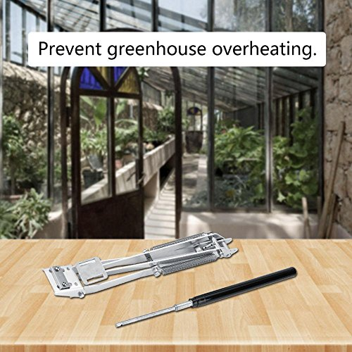 AYNEFY Greenhouse Vent, Effectively Fixed Auto Vent for Open & Close of  Greenhouse Window Solar Powered Heat Sensitive Thermo Control