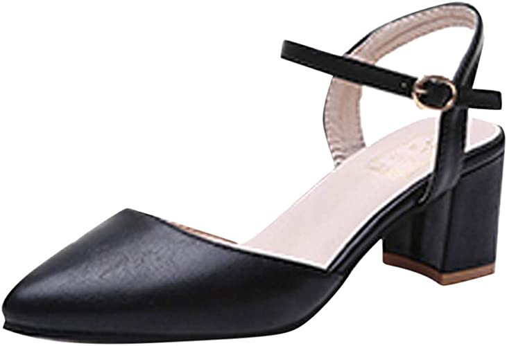 GIY Womens Block Heel Pump Sandals Open Toe Lace Up Evening Dress Chunky High Heel Dress Shoes Grey