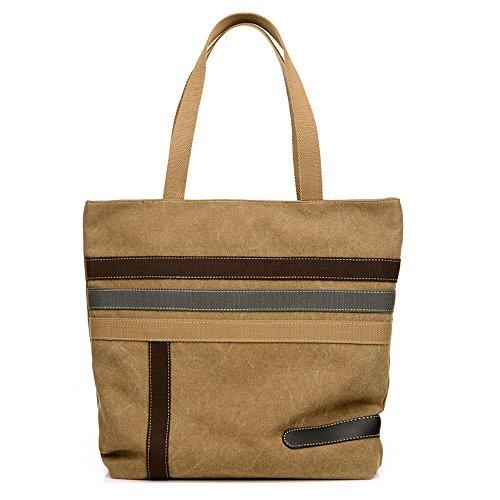 Vintage Leisure Single Shoulder Bag Mini Backpack Messenger Chest Bag for Men (Brown) - 9