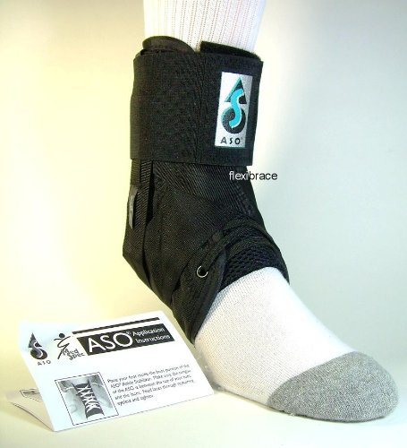 ASO Ankle Stabilizing Orthosis w/inserts (XSmall - Black)
