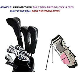 AGXGOLF Ladies Right Hand Magnum Complete Golf Club Set w/Stand Bag & Free Putter; Regular or Petite Length USA!