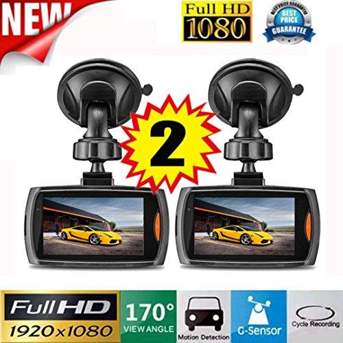 HawkEye Full HD Dual Front /& Rear Dash Cam With Collision G-Sensor
