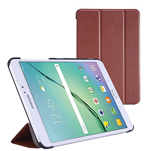 WOFALA Samsung Galaxy Tab S2 9.7 case-Ultra Slim Lightweight Smart-shell Stand Cover Case With Auto Sleep/Wake Feature For Samsung Galaxy Tab S2 9.7 inch Tablet,Brown