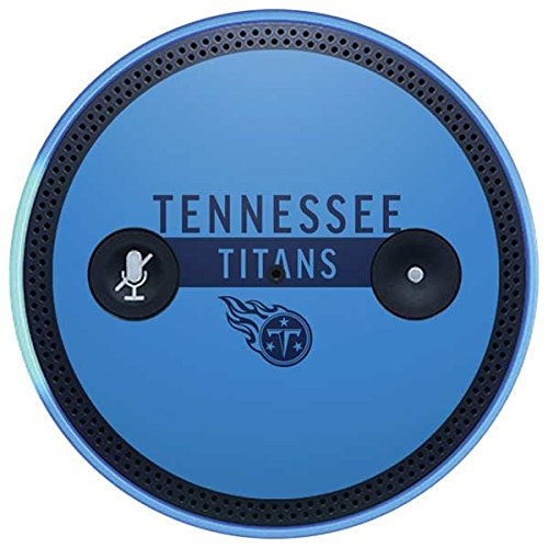 Skinit NFL Tennessee Titans Amazon Echo Plus Skin - Tennessee Titans Blue Performance Series Design - Ultra Thin, Lightweight Vinyl Decal Protection