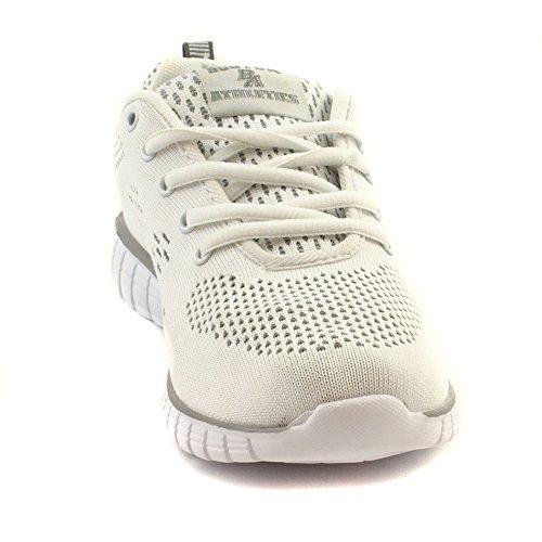 Boston Athletics Womens Shock Absorbing Running Gym Trainers Sizes 3-8 Wave White YEgVG