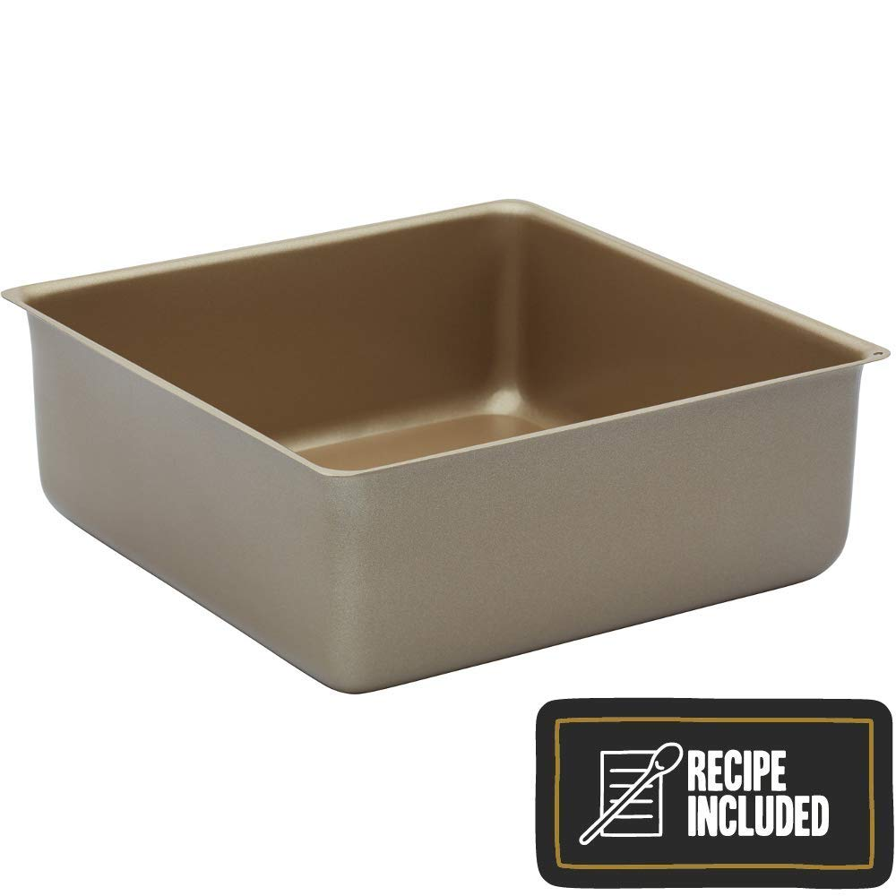 Paul Hollywood By Kitchencraft Non-stick Deep Square Cake Tin With Loose Base,