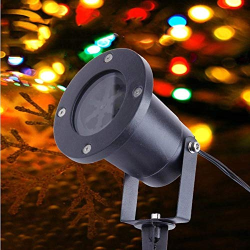 HAOMEI LED Landscape Projector Outdoor Waterproof Snowflake Christmas Pattern Lights Projection Lawn Lights]()