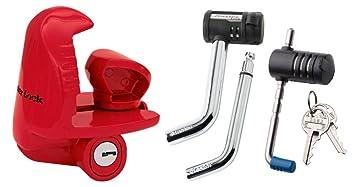 Baoblaze Brand New Durable Tow Hitch Ball Bar Trailer Coupler Lock Pin Heavy Duty Key