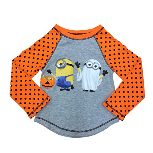 Despicable Me Infant & Toddler Girls Orange Minion Ghost Halloween Shirt 3T (Despicable Me Halloween)