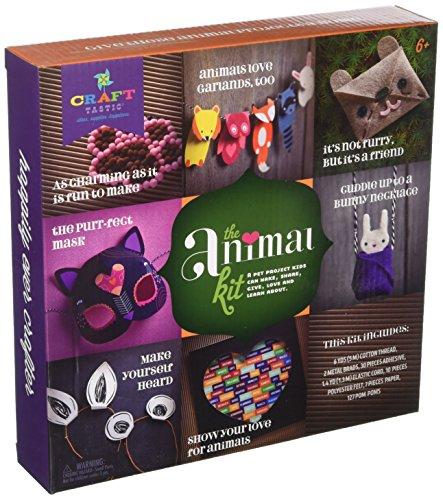 (Craft-tastic – The Animal Kit – Craft Kit Makes 7 Animal-Themed)